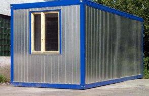 Бытовка железная 4х2,4 (блок контейнер)